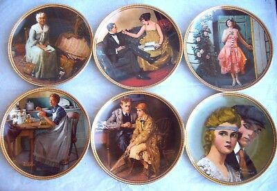 $ CDN106.66 • Buy Lot Of 6-  Rockwell's Rediscovered Women  Collection Plates Knowles