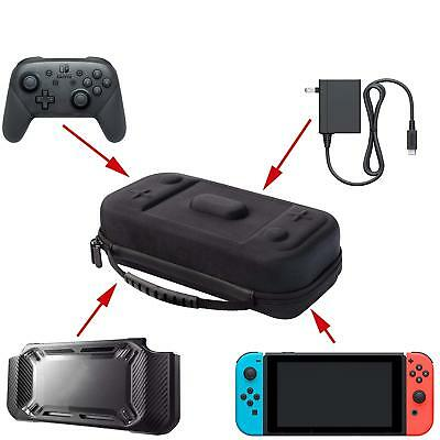 $24.89 • Buy XL Nintendo Switch Travel Case Fits Hori Split Pad Pro Or Pro Controller,Charger