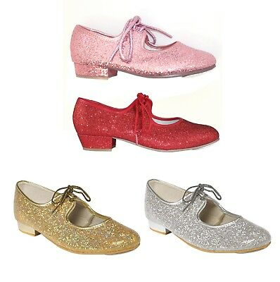 £21 • Buy New Tappers And Pointers Girls Ladies Glitter Hologram Tap Dance Dancing Shoes