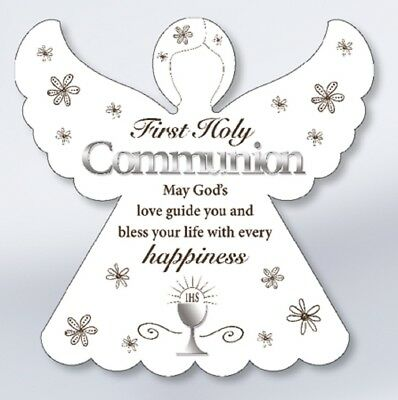 First Holy Communion Angel Communion Prayer First Communion White Angel Boy Girl • 10.99£
