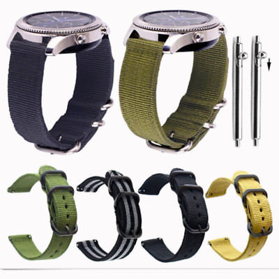 $9.98 • Buy Quick Release Military Woven Nylon Canvas Fabric Watch Band Strap Buckle 20 22mm