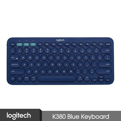 AU77.25 • Buy Logitech K380 Multi-Devices Bluetooth Keyboard Blue For IOS Android Laptop