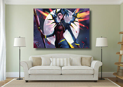 AU15.10 • Buy Overwatch Game Large Poster Wall Art Print - A0 A1 A2 A3 Maxi