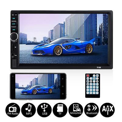 $40.23 • Buy 7  Double 2 DIN Car MP5 Player Stereo Audio Touch Screen FM Radio BT USB +Camera