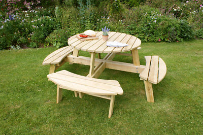 Poppy Round Picnic Table  - Zest Products / Free Delivery 15218 • 369.99£