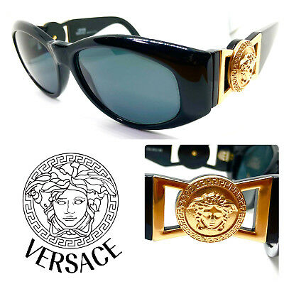 2f6931dd05 Gianni Versace Mod.424 Col.852 BK Gold Vintage Sunglasses NOTORIOUS BIG  MIGOS •
