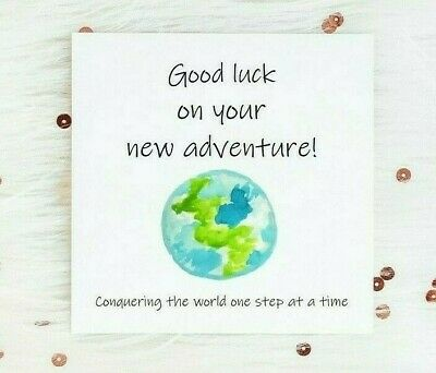 Good Luck Card New Adventure Moving New Job New Home Leaving Travel University  • 3£