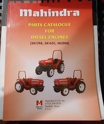 $69.99 • Buy Mahindra Tractor Diesel Engine Parts Catalog 3A138A 3A165C 4A200A