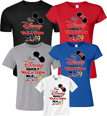$12.99 • Buy Our Disney Family Vacation 2019 Mickey & Minnie Funny Cute Customized T-Shirts