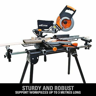£99.99 • Buy Mitre Saw Bench Universal Chop Evolution Workstation Table Stand Extensions NEW