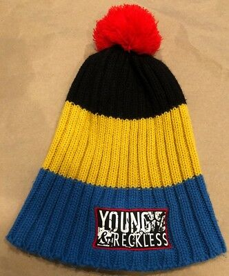 Young   Reckless RARE Winter Hat Pom Beanie Vintage Look Skateboard  Snowboard • 9.98  d230062b4dd