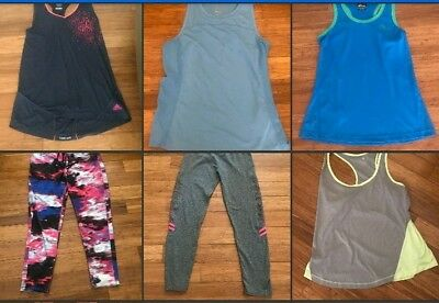AU70 • Buy Womens/Ladies Activewear Gym Clothing Lot Of 7 ADIDAS Nike Tops Pants Tights