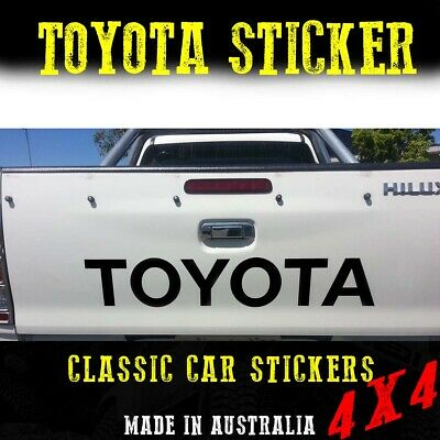 AU26.50 • Buy TOYOTA Chrome Decal For  Hilux Tailgate With Premium Vinyl And SR5 Sticker