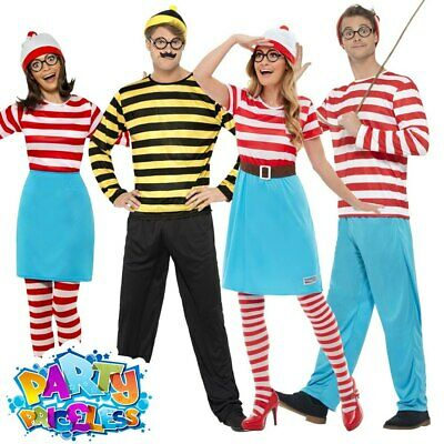 £27.49 • Buy Mens Womens Wheres Wally Wenda Costume Fancy Dress Book Day Week Adults Outfit