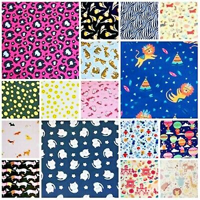 Cheap! Polycotton Fabric CRAFTS Children METRE HALF MT Remnant Floral Vintage  • 2.90£