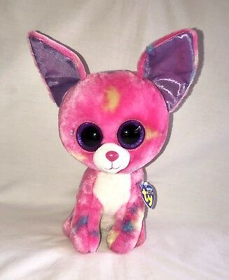 bdf332e30fd Ty Beanie Boo Cancun Pink Chihuahua Dog Plush 9 Medium 2013 NEW • 24.99