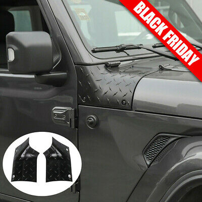 Side Outer Cowl Body Armor Covers Corner Guards For Jeep Wrangler JL JLU 2018+ • 21.99$