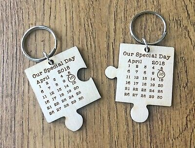 AU12.40 • Buy Personalised Valentines Day Gifts For Him Her Wife Wedding Anniversary Keyring