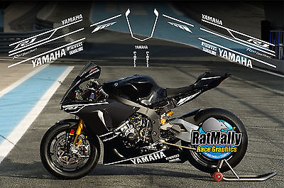 AU64.27 • Buy Winter Test Graphics - To Fit Yamaha Yzf R1 Or Similar - Race Track Decals