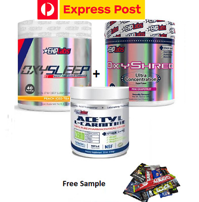 AU134.90 • Buy Ehplabs  Oxysleep And Oxyshred & L Carnitine  Thermogenic Weight Loss Pack