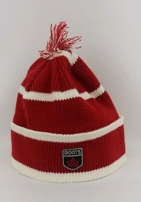 f3b663a790c07 Roots OS Canada Beanie Knit Hat Red White Striped Winter Outdoor Free Ship  • 25.25