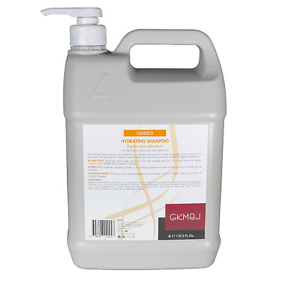 AU89.94 • Buy GKMBJ Hydrating Shampoo 4 Litre With PUMP - Replenishes Moisture - Dry Hair 4L