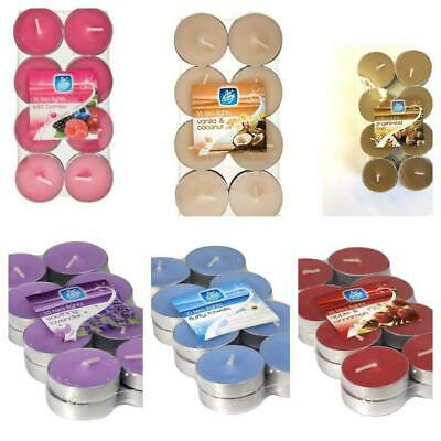 Scented / Plain Wax Tea Light Small Candles 6 Fragrances Pan Aroma Multi - Packs • 2.65£