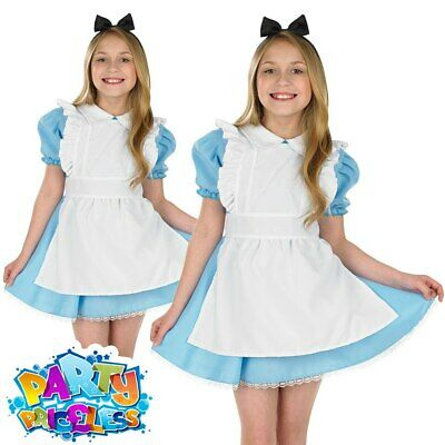 Girls Alice Costume Kids Wonderland Fancy Dress Book Day Week Childs Outfit  • 10.99£