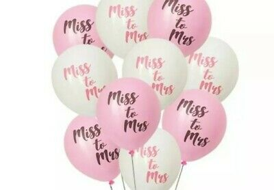 AU8.95 • Buy Bride To Be Miss To Mrs Balloons Hen's Party Bachelorette Decorations