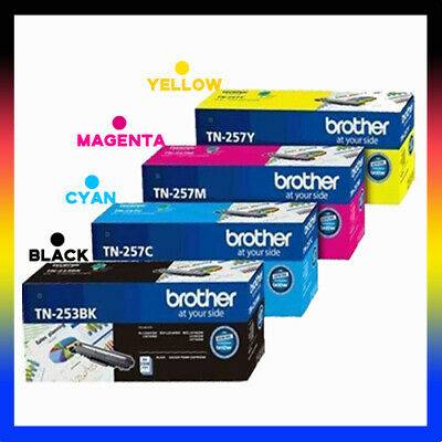 AU599.90 • Buy 4Original Brother TN-253 257C 257M 257Y To In MFC-L3750CDW/L3770CDW DCP-L3510CDW