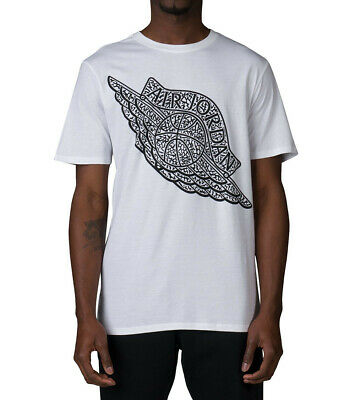 aad4ffeecd1dae Air Jordan Wings Elephant Print Men s Fashion T-Shirt White Black 835958-100
