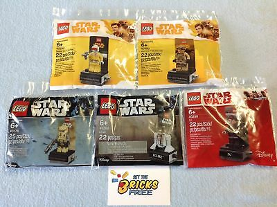 AU69.99 • Buy Lego Star Wars Polybags Lot Of 5 40176/40268/40298/40299/40300 New/Sealed/H2F