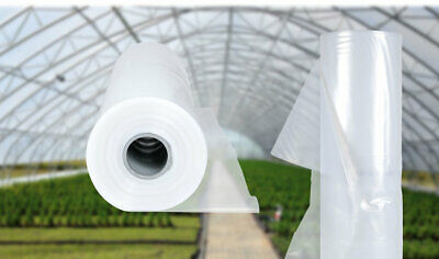 UV-5 Poly Tunnel Greenhouse Polythene Plastic Sheet Cover Foil Horticultural PVC • 25£