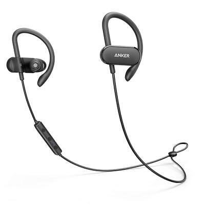AU60.95 • Buy Anker SoundBuds Curve Bluetooth Wireless 4.1 Sports Headphones 14 Hr Battery BLK