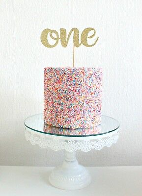 One Birthday Cake Topper Party Decorations Bunting 1st 2nd 3rd 4th 5th 6th 10th • 7.99£