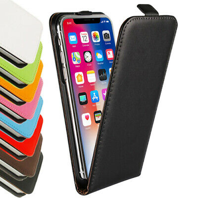 AU9.99 • Buy IPhone11 Pro MAX XS XR X 8 7 6s Plus -Genuine Leather Flip Case Cover For Apple