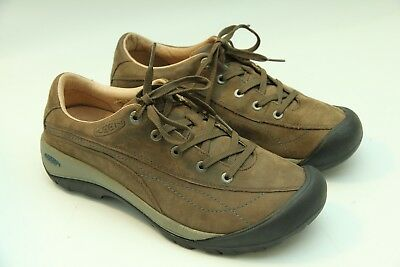 d0cbec06258 Keen Toyah Slate Womens Brown Leather Lace Up Hiking Sneakers Size 9.5  53001 • 26.97$