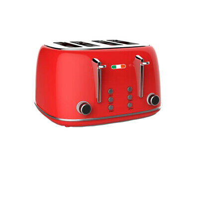 AU74.99 • Buy Vintage Premium 4 Slice Toaster Stainless Steel 1650W Not Delonghi - RED