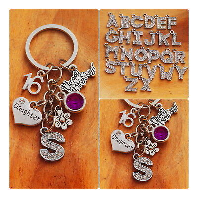Personalised Birthday Gift Keyring-mum Daughter Sister -18th 21st 30th 40th 50th • 3.99£