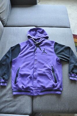 Nike Air Jordan The Varsity Hoodie Jacket Men s Letterman Jacket Purple  Size XXL • 37.00  5b98d6817