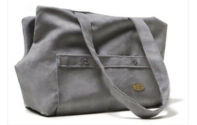 View Details Suzy's Grey Xuede Dog Carrier Bag, Medium • 60.00£