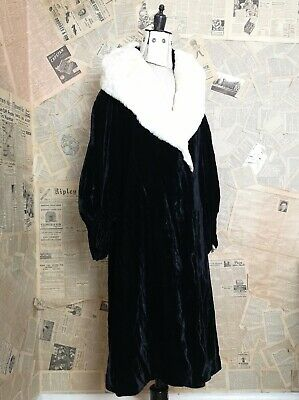 Vintage 1920's Silk Velvet Opera Robe, Opera Coat, Slattery And Co • 799£