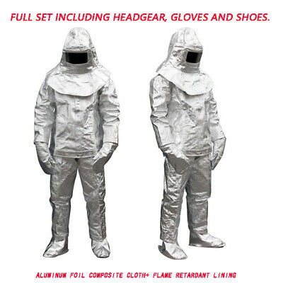 1000°C Thermal Radiation Heat Resistant Aluminized Suit Fireproof Cloth Sharelov • 139.93$