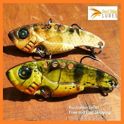 AU8.99 • Buy 2 X Vibes Fishing Lures Trout Bass Redfin Yellowbelly Perch Cod Tackle Blades