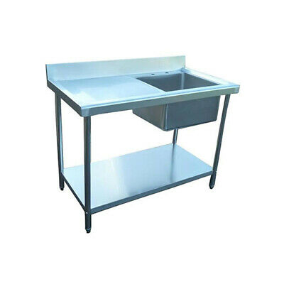 New Stainless Steel Commercial Kitchen Sink 1 Meter 100cm Single Bowl • 285£