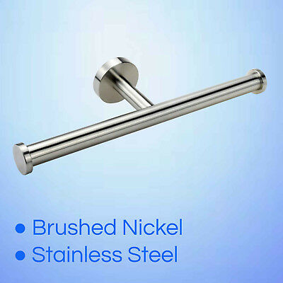 Wall Brushed Stainless Steel Double Toilet Roll Paper Holder Dual Tissue Rails • 13.20£