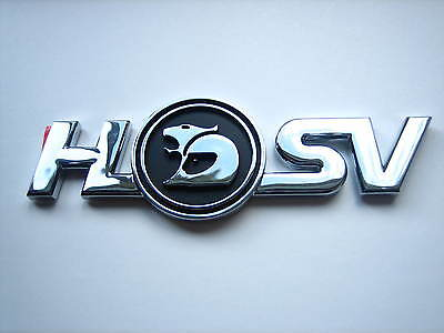 AU115 • Buy Hsv Vx Clubsport R8 Xu6 Gts ' Hsv ' Rear Bar Badge Black & Chrome Genuine New