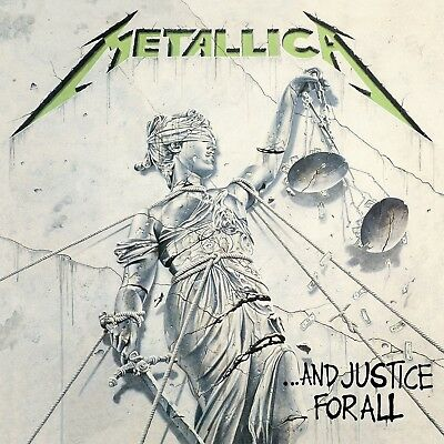 Metallica And Justice For All 1988 Album Cover Stretched Canvas Art Poster Print • 18£