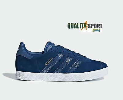 best cheap 17b20 d4e17 Adidas Gazelle Blu Scarpe Donna Shoes Sportive Sneakers CG6695 2019 • 59.99€