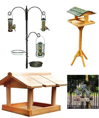 £9.99 • Buy Hanging Wooden Metal Garden Wild Bird Table Traditional Feeding Station Free P&p